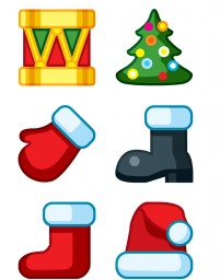 Christmas concise style icon material series PNG icons 256x256px