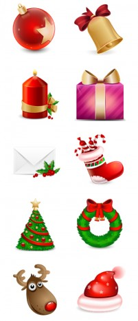 Christmas theme icons PNG Icons 256x256px