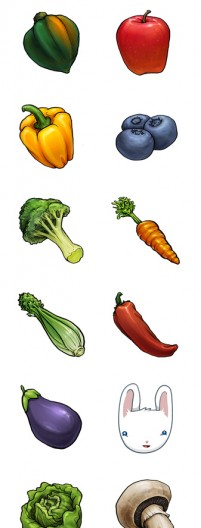 Common fruits and vegetables PNG Icon 256x256px