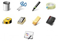 Common office supplies PNG Icon 128x128px