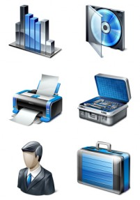 Cool office vista style computer PNG icon 256x256px