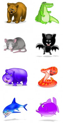 Crazy small animals PNG icons 256x256px
