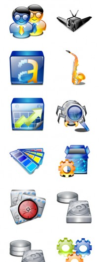 Crystal style desktop icons PNG 256x256px