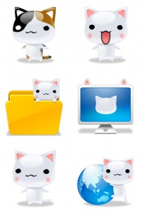Cute big cat face PNG Icon 256x256px