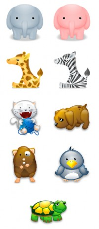 Cute little animals PNG icons 256x256px