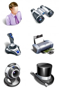 Digital 3D texture PNG icons 256x256px