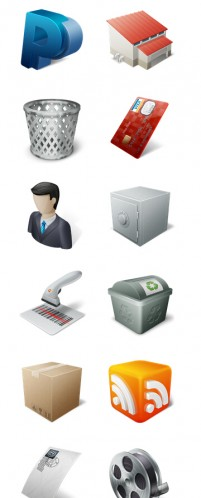 E commerce and business PNG icons 256x256px