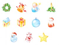 Flash style Christmas PNG icon 128x128px