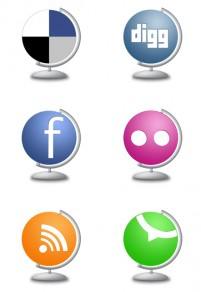 Globe website PNG icons 256x256px