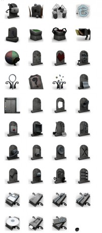 Graves or heaven PNG icons 128x128px