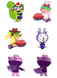 HTF animated characters PNG Icon 256x256px