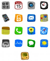 Hand painted style iPhonePNG icon 128x128px