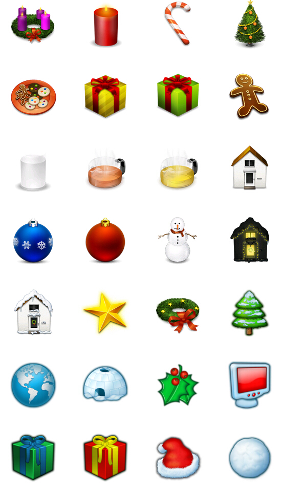 Happy Christmas decoration PNG Icon 128x128px