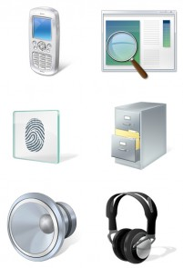 High tech products PNG icons 256x256px
