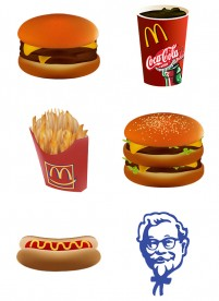 KFC Mcdonald s fast food PNG Icon 256x256px