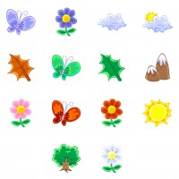 Natural plant Butterfly PNG icons 128x128px