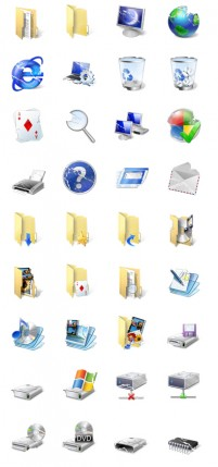 Old style desktop icons PNG 128x128px
