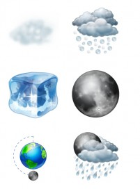 PNG fine weather forecast icon 256x256px