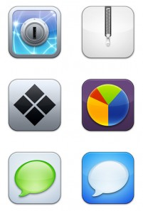 PNG icon rounded texture iPhone 256x256px