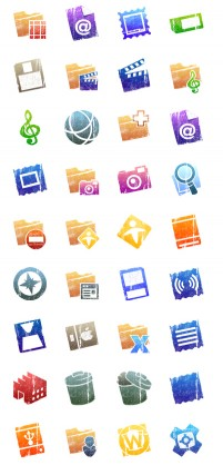 PNG icon selection set 14 128x128px