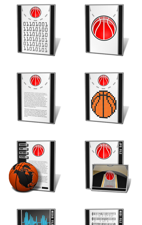 Personalized style of basketball PNG file icon 256x256px