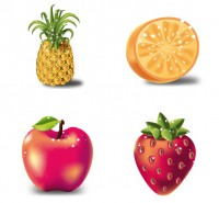 Pineapple and oranges PNG icons 256x256px