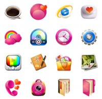 Pink living items PNG icons 128x128px