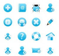 Sky Blue PNG Icon 128x128px
