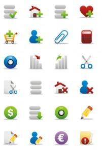 Supermarket shopping series rounded PNG icons 128x128px