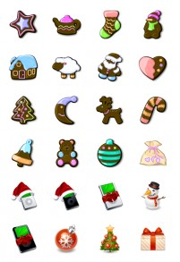 Texture and chocolate style Christmas PNG icon 128x128px