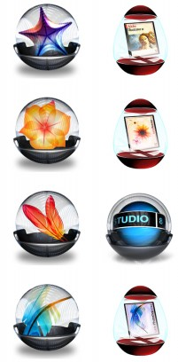 Transparent crystal ball graphics software PNG icons 256x256px
