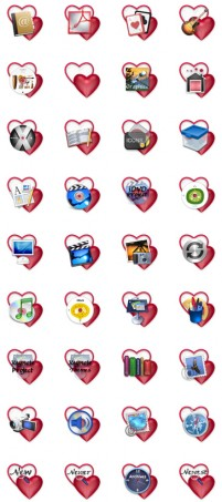 Valentine s Day heart shaped background PNG desktop icon 128x128px