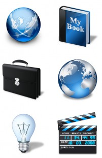 Vista blue style computer PNG icon 256x256px