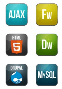 Web developers commonly PNG icons 256x256px