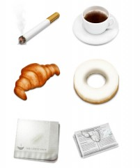 White collar household items PNG Icon 256x256px