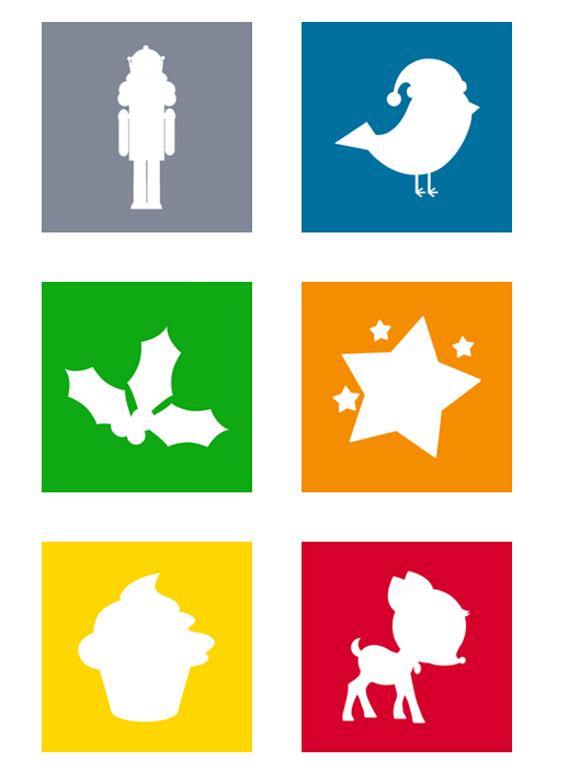 Win8 style Christmas PNG icon 256x256px