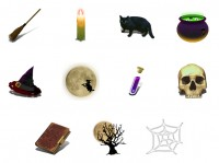 Witchery Halloween PNG Icon 128x128px