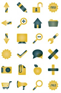 Yellow Business PNG Icon 128x128px