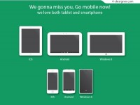 A variety of mobile devices PSD