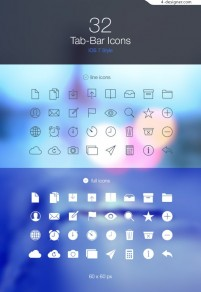 Apple phone IOS7 a flat design icon material Collection