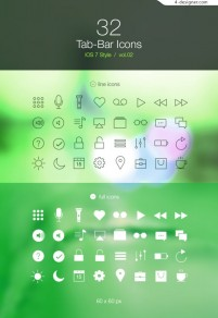 Apple phone IOS7 flat design icon material collection 2