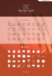 Apple phone IOS7 flat design icon material collection 3