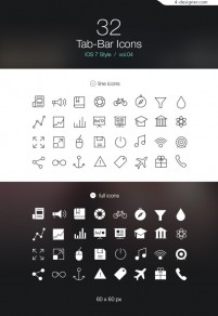 Apple phone IOS7 flat design icon material collection 4