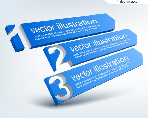 Blue digital label banner vector