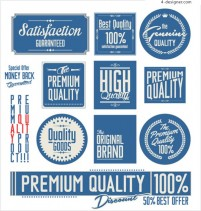 Classic blue label design vector
