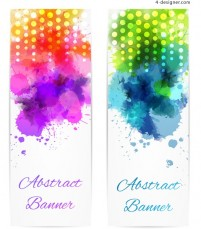 Colorful watercolor graffiti banner vector