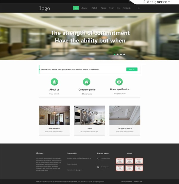 Foreign classic hotel website PSD