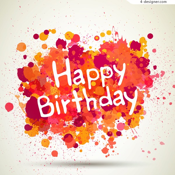 Inkjet birthday card vector