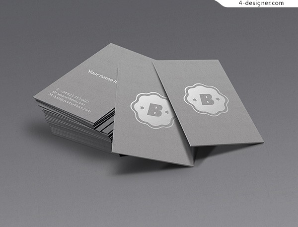 Silver logo business card template