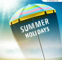 Summer parasols background vector